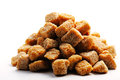 Cane brown sugar cubes Stock Image