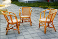 Cane chairs Royalty Free Stock Photo