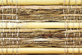 Cane and wicker background pieces tied together Royalty Free Stock Images