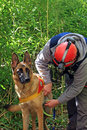 Canine unit of civil defence Royalty Free Stock Photo