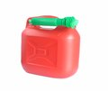 Canister red reserve with tube Royalty Free Stock Photos