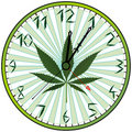 Cannabis green clock Stock Photos