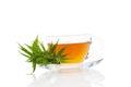 Cannabis herbal tea. Royalty Free Stock Photo