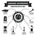 Cannabis infographic concept, simple style