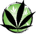 cannabis leaf grunge Royalty Free Stock Photo