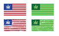 Cannabis nation flags based us flag grunge Stock Image