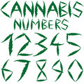 Cannabis numbers Royalty Free Stock Photos