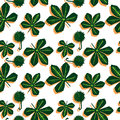 Cannabis retro pattern Royalty Free Stock Photos