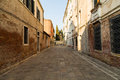 Cannaregio district of venice italy th march a view along colorful streets in the during the day showing the outside Stock Images