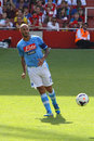 Cannavaro in arsenal napoli image of paolo captain of during the match for the emirates cup played london on the rd of Stock Photo