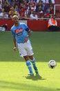 Cannavaro in Arsenal-Napoli Royalty Free Stock Photo