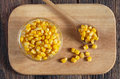 Canned corn grain Royalty Free Stock Photo