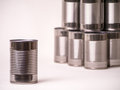 Canned Food Single and Stacked Royalty Free Stock Photography