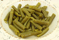 Canned green beans close Royalty Free Stock Images
