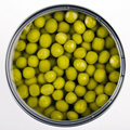 Canned green peas Royalty Free Stock Images