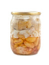 Canned kidney bean in a jar is on white Stock Image