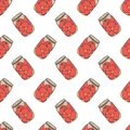 Canned tomatoes preserve. Vector concept in doodle and sketch style. Hand drawn illustration for printing on T-shirts, postcards