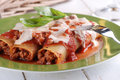 Cannelloni with meat sauce Royalty Free Stock Photo