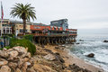 Cannery row pier beach monterey bay california ca dec historic and Stock Photography