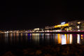 Cannes beach night view, France