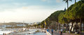 Cannes embankment france sept people walking at of at sunset th festival de from to may Royalty Free Stock Photos