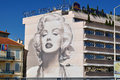 Cannes, France, Murales about Marilyn Monroe Royalty Free Stock Photography