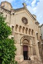 Facade of 19th-century Church of Our Lady of Good Voyage in Cann Royalty Free Stock Photo