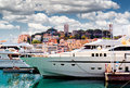 Cannes france view of le suquet the old town and port le vieux of Stock Images