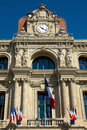 Cannes hotel de ville the in france Royalty Free Stock Photography