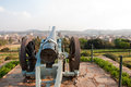 Cannon aiming pretoria historical in union buildings gardens south africa Stock Photo