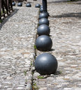 Cannon balls ancient in series Stock Photo