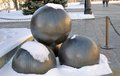 Cannon balls under the snow.