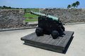 Cannon at castillo de san marcos fort Stock Photos