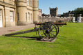Cannon at culzean castle ayrshire scotland Stock Images