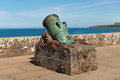 Cannon at culzean castle ayrshire scotland Stock Image