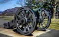 Cannon english howitzer captured at saratoga located on trophy point at west point Stock Images