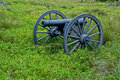 Cannon in a field Royalty Free Stock Photo
