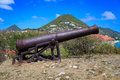 Cannon at Fort Amsterdam, St. Maarten Royalty Free Stock Photo