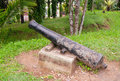 Cannon at fort de kock bukittinggi sumatra island indonesia is a former dutch colonial is also the Royalty Free Stock Photography