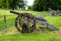 Cannon in the grounds of chillingham castle nortumberland uk Stock Photo