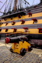 Cannon hms victory nelsons flagship portsmouth historic ships mu Stock Photo