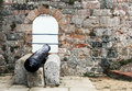 Cannon old in elizabeth castle jersey island Stock Photos