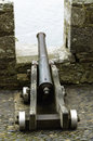 Cannon overlooking the sea at St Michaels Mount in Cornwall Royalty Free Stock Photo