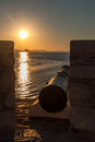 Cannon in the sunset Royalty Free Stock Images