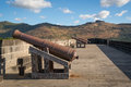 Cannons in fortress Port Louis Royalty Free Stock Photo