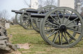 Cannons in Gettysburg National Battlefield Royalty Free Stock Photo