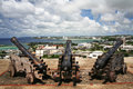 Cannons in Hagatna Bay Guam Royalty Free Stock Photo