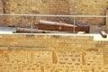 Cannons inside ribat monastir tunisia Stock Image