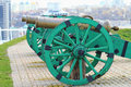 Cannons medieval at pechersk fortress in kiev ukraine Royalty Free Stock Photos