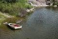 Canoe dock Royalty Free Stock Photo